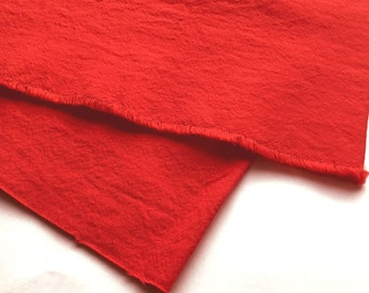 SALE japanese linen blended cotton fabric. washer finish fabric. medium weight fabric. 105cm (41in) wide. sold by 50cm (19in) long. red