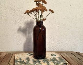 Vintage Brown Glass Bottle