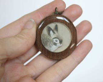 Circle Bunny Necklace