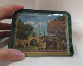 Vintage Souvenir Wallet Florida St. Augustine Child's Wallet Vinyl