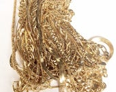 Gold chains assorted lot gold toned chains different styles thickness lengths assorted 15 pieces lot 3