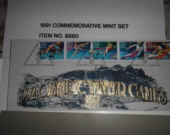 Official Postal Commemorative souvenir of the 1992 Winter Games