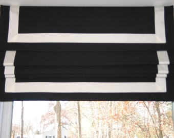 FAUX Roman-Shade/Valance - Up to 30'' wide x 18'' long-idea-for-kitchen-bath-room-play-room-family-room - Pick a Color - Fabric and Ribbon