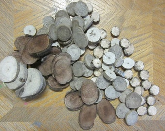 Bulk Lot of Driftwood Round Slices 90 Plus Pieces Mixed Wood for Variety