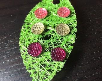 Dewdrop Earring Trio Gift Set in Pinks