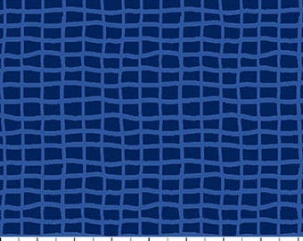Navy Blue Tone on Tone Grids from Northcott Fabric's First Mate Collection by Deborah Edwards