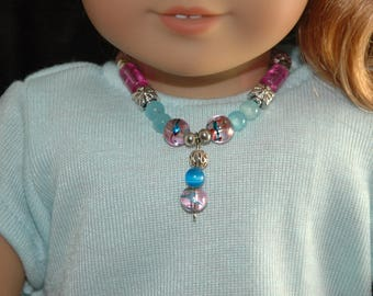 Doll, necklace, american, made, girl, doll jewelry, 18 inch doll, accessories, beaded, 25