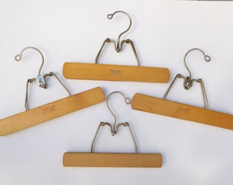 Vintage Wooden and Metal Skirt Photo Hangers