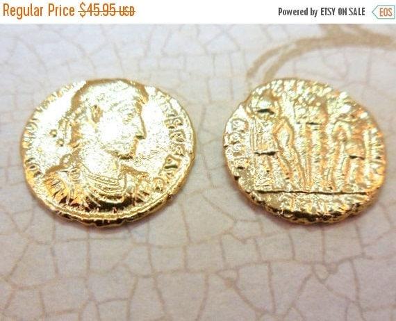 45% off Liquidation SALE TWO AUTHENTIC Constantine Era 24k Roman Coins (S2B22-10)