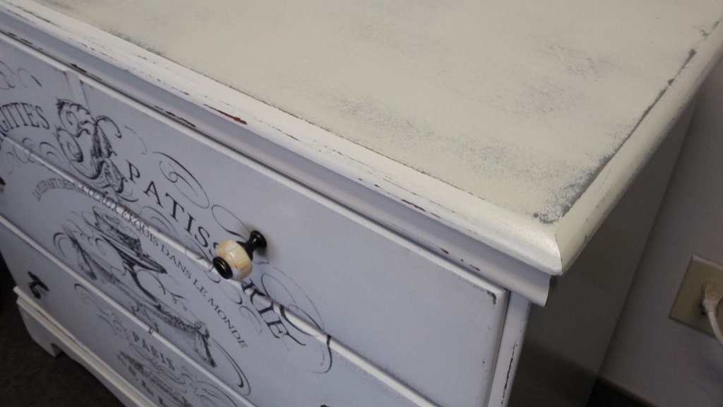 vintage rustic, farmhouse, heavily distressed, dresser, chest, bedroom