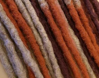Ombre dreadlocks crochet synthetic dreadlock extensions - natural look, double ended, DE, long, 15 pieces