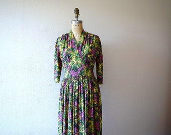 1940s rayon dress . vintage 30s 40s dress