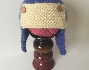 Baby aviator hat, toddler aviator hat, child aviator hat, soft knitted baby aviator hat, earflap hap, baby earflap hat, toddler earflap hat