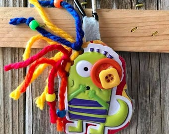Backpack Clip, lunchbox Clip, Zipper Pull, Monsters