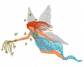 Fairie Machine Embroidery Design - Instant Download