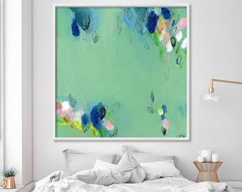 """Large wall art, abstract painting, Giclee print, up to 40x40"""", modern Painting, Abstract Art, Acrylic Painting, Abstract Art, green"""
