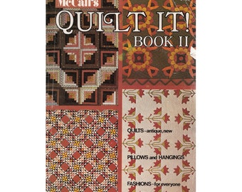 McCalls 1970s Quilt It Magazine Book II General Quilting Directions/Sun & Shadow Quilt Pattern/Carolina Lily/Grandmas Garden Vintage Quilts