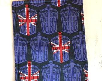 Dr Who Trivet Rectangle Blue Yellow Red Dalek  British Flag Motif Reversible Stocking Stuffer Pollyanna Teacher Gift Hostess Gift Fan Gift