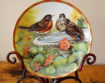 Vintage Catherine McClung Bathing Beauties Collectors Plate Vintage Catherine McClung Nature's Nestlings Plate from The Eclectic Interior
