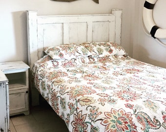 Bed frame - solid wood bed - bedroom furniture - panel bed - reclaimed wood furniture - Joanna Gaines inspired