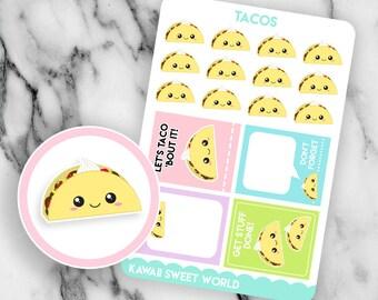Kawaii Tacos | Planner Sticker Sheet