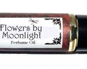 FLOWERS BY MOONLIGHT - Roll on Premium Perfume Oil - 2 sizes to choose from - 1/3 oz or 1/6 oz - Lemongrass, Daisy, Gardenia, Ylang Ylang