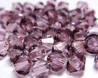 Swarovski Crystal Antique Pink Bicone Crystal Beads, 6mm #5328 Swarovski Antique Pink - 50 Crystals