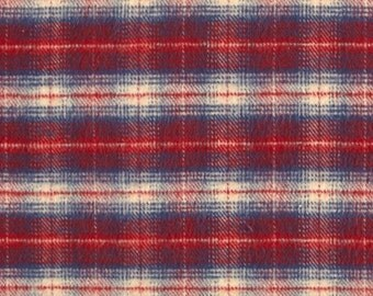 Baby Baby- Red Navy Plaid and Minky Baby Blanket - Christmas Gift, Baby Shower Gift