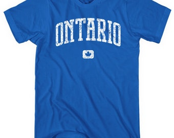 Ontario Canada T-shirt - Men and Unisex - XS S M L XL 2x 3x 4x - Gift, Toronto Shirt, Hamilton Shirt, Ottawa Shirt, Windsor, Kitchener, ON