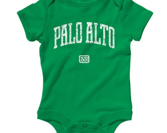 Baby One Piece - Palo Alto 650 California - Infant Romper - NB 6m 12m 18m 24m - Baby Shower Gift, Silicon Valley Baby, Palo Alto Baby, Cali