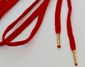 1.75 yard Red lace with Gold Aglets
