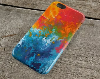 Incalescence Orange & Teal iPhone Case - Orange, Turquoise, and Blue Art Case for iPhones iP4, iP5/S/SE, iP5C, iP6/S, iP6+/S, iPod Touch 5