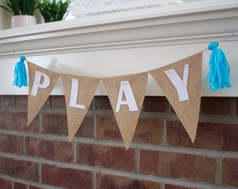 Playroom Decor - Play Banner - Playroom Banner - Playroom Sign, Play Room Decoration, Little Man Cave, Babe Cave, Kids Play Room, Photo Prop