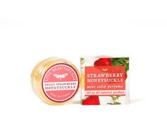 SUMMER SALE - Strawberry Honeysuckle Mini Perfume - All Natural - Ripe Summer Berries and Honeysuckle Flowers
