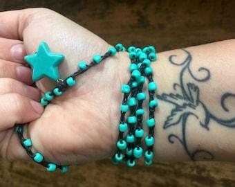 Stars Above: Versatile crocheted necklace / bracelet / belt / headband