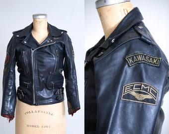 1970s Motorcycle Jacket ECMC European Motorcycle Leather Fetish Club Black Speedman Leather Daddy Biker Jacket