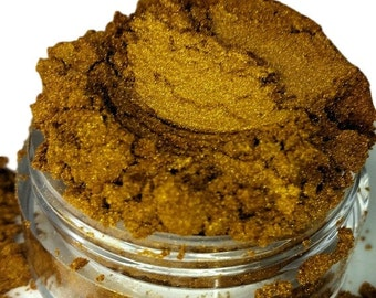Obsession Dark Gold Metallic  Mineral Eye Shadow 10g Sifter Jar Gray eyeshadow Vegan Natural mineral Mica Makeup