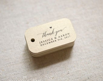 Chic Gold Thank You Wedding Favor Tags, Personalized Gift Tags, Bridal Shower, Thank you tags, Party Tags, Favor Bag Tag- (Item code: J687)