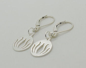 Sterling Silver Leverback Earrings S16