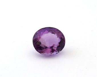 Amethyst Faceted Gemstone 15.5x17.4x11.4 mm 18.9 carats Free Shipping