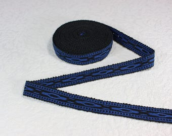 Tela blue jeans e tessuto di tapisserie manici in gros grain