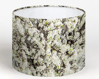 Lamp Shade - White Cherry Blossom. Photography lampshade, flowers, nature.