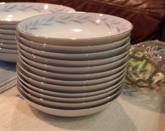 Set of Twelve Vintage Berry Bowls ~  MODAR Japan Fine China Dinnerware Mid Century Modern 7243