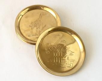 Brass Animal Menagerie Coasters, 6