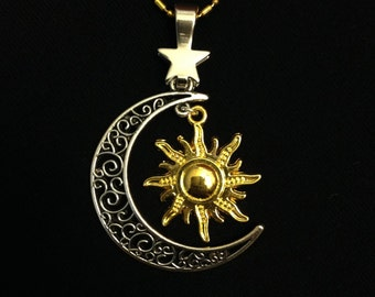 Sun, Moon, and Star Pendant