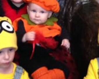 Infant Leg Warmers Halloween Green, Yellow or Orange 8 inches