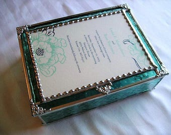 MADE to ORDER|Wedding Keepsake Box|Wedding Gift|Wedding Invitation Box|Stained Glass Wedding Keepsake Box|Handcrafted|Made in USA