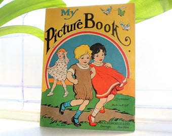 Antique Children's Book My Picture Book Linennear M A Donohue & Co