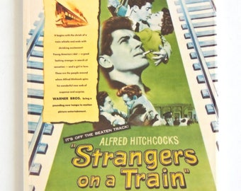 Strangers on a Train Movie Poster Fridge Magnet