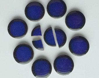 Mosaic Tiles Cobalt Blue Penny Round Tiles -Porcelain Tiles
